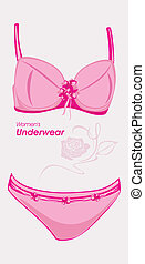 Women underwear. Label for design. Vector illustration