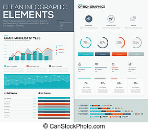 infograph, 圖, 餅, 圖表