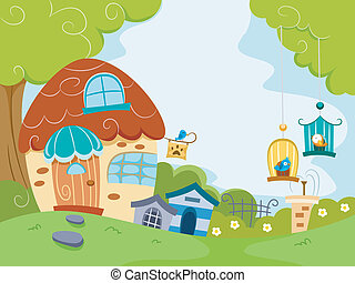 Pet Shop - Illustration Featuring a Pet Shop Housing...