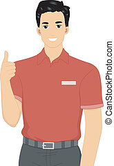 Camp Staff - Illustration Featuring a Member of a Camp Staff...