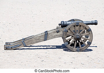 Ancient artillery cannon in Kiev, Ukraine