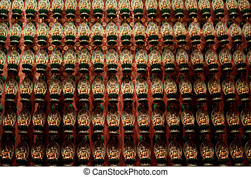 rows of budda