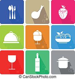 alimento, ícones