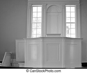 Preachers Pulpit - Empty pulpit of a small country church