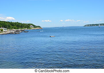 Casco Bay view in Maine near Portland.