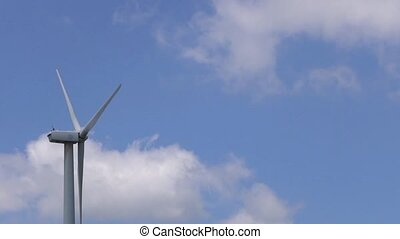 wind power with cloud background