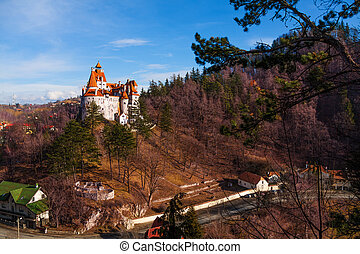 Dracula castle in Transylvania and Wallachia - Bran Castle...