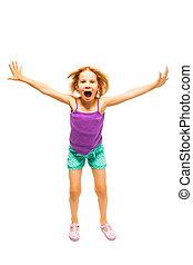 Little girl in purple shirt