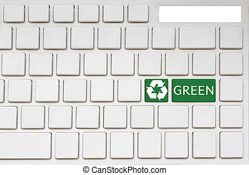 concept: Go Green key on the computer keyboard