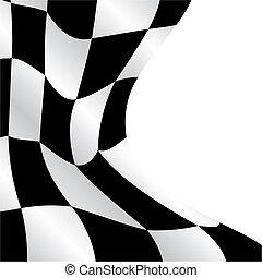 checkered, bandeira