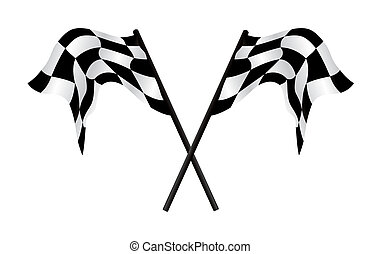 Checkered flags - racing symbol, vector illustration