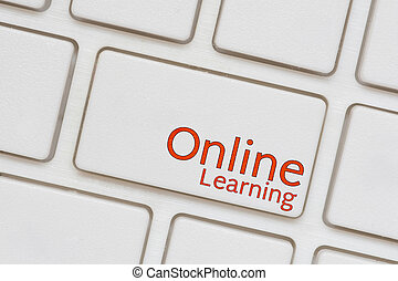 Online Learning button on Computer Keyboard