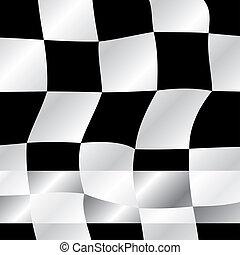 Checkered flag waving background, illustration