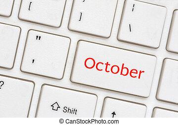 -, 10 月, コンピュータ, キー