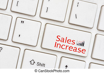 Sales Increase button on Computer Keyboard