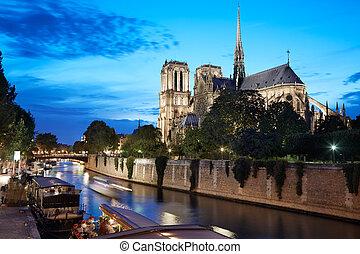 Notre Dame de Paris, Seine river
