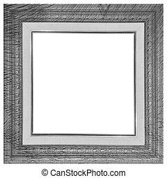 vintage frame broken with old canvas