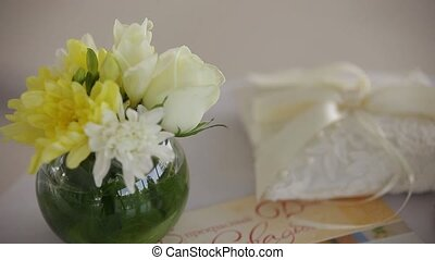 flowers and small basket