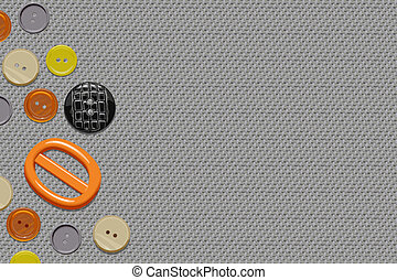 Buttons on canvas