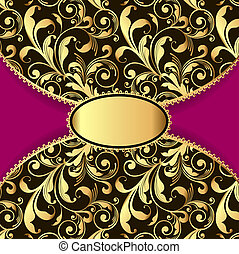 background with a pattern of gold and laced border