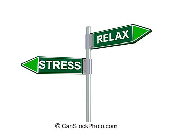3d relax stress road sign