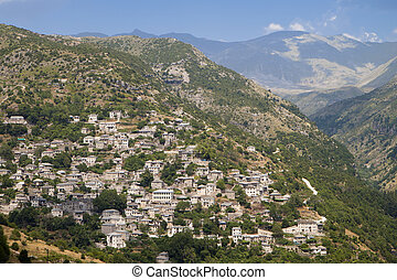 Traditional village in Greece - Traditional village of...