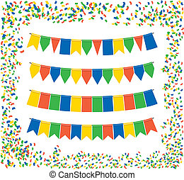 bunting flags - triangle bunting flags color vector holiday...