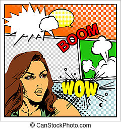 Comics - Vector mock-up of a typical comic book page with...