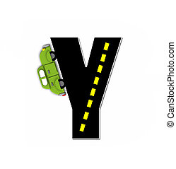 Alphabet Transportation by Road Y - The letter Y, in the...