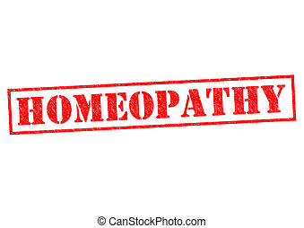 HOMEOPATHY red Rubber Stamp over a white background