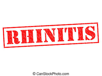 RHINITIS red Rubber Stamp over a white background.