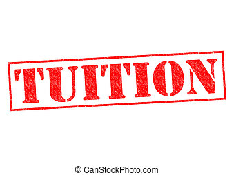 TUITION red Rubber Stamp over a white background.