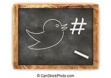 Blackboard Hashtag Social Media