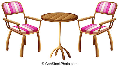 Office furnitures - Illustration of the office furnitures on...