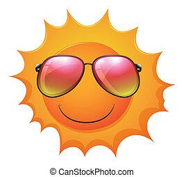 A sun with shades