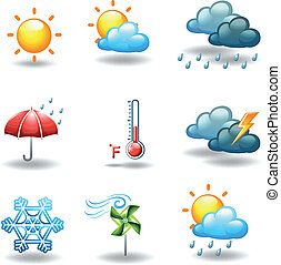 Different weather conditions - Illustration of the different...