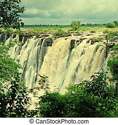 africa), majestätisch, Ansicht,  falls(south,  VICTORIA