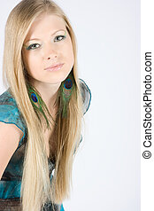 Beautiful fashion model - Beautiful young blond model with...