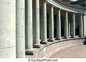 Colonnade - Long colonnade of the old palace in Moscow