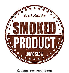 Vector Clipart of Smoked Meat-stamp - Rubber stamp with text ...