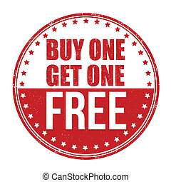 Buy One Get One Free stamp - Buy One Get One Free grunge...