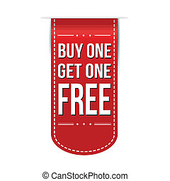 Buy One Get One Free banner design over a white background,...