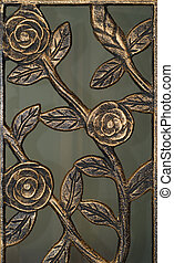 Cast Iron roses