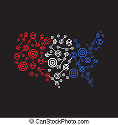 America target map red white blue logo