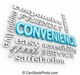 Convenience 3d Word Collage Fast Friendly Service -...
