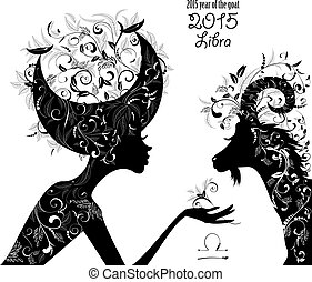 2015 year of the beautiful goat and Zodiac sign libra....