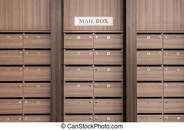 Locker post box or mail box