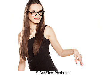 rejection - woman with reject gesture