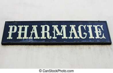 French pharmacy letters - Close up on french pharmacy...