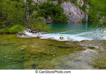 Plitvice Lakes National Park - small waterfalls in Plitvice...